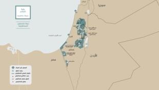 """特朗普在其推特賬戶上發布的""""巴勒斯坦國地圖"""""""