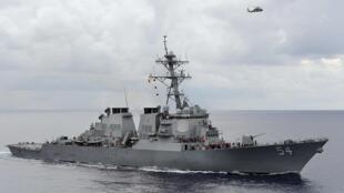 Khu trục hạm USS Curtis Wilbur (như trong ảnh) đã tiến vào và di chuyển bên trong vùng 12 hải lý của đảo Tri Tôn ngày 30/01/2016.