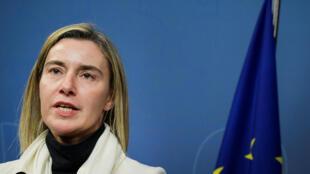 La chef de la diplomatie européenne, Federica Mogherini, ici à Stockholm, le 10 octobre 2016.