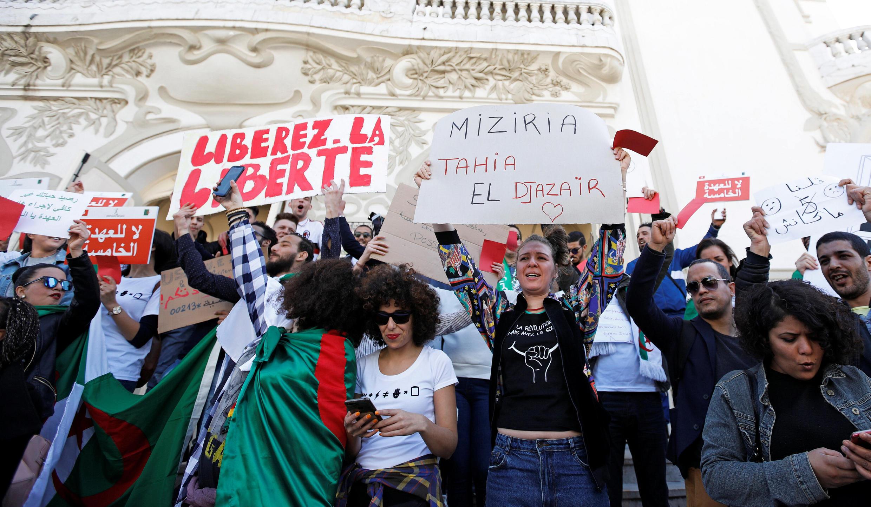 Algerian President Abdelaziz Bouteflika has faced weeks of massive protests