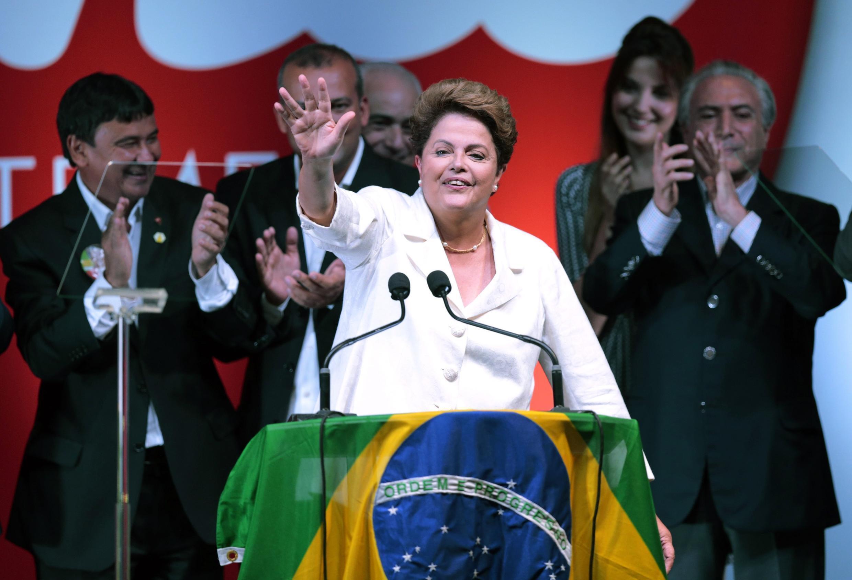 Dilma Rousseff fez discurso logo após a divulgação dos resultados.