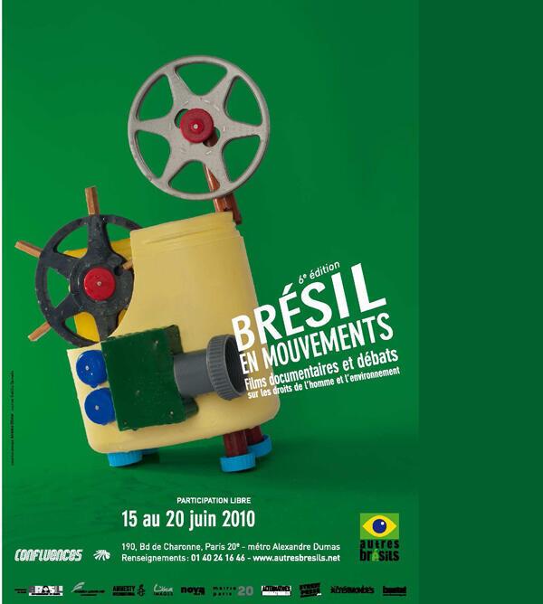 Cartaz da sexta edição do festival Brésil en Mouvements (Brasil em Movimentos).