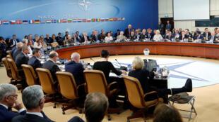 La réunion des ministres de la Défense des Etats membres de l'Otan, à Bruxelles, le 26 octobre 2016.