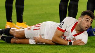 L'attaquant du FC Séville, Munir El Haddadi.
