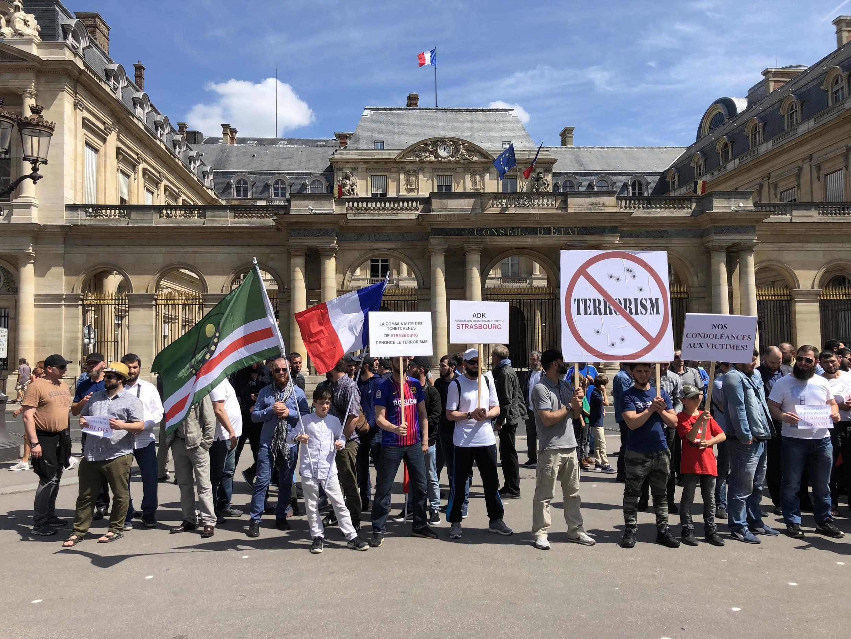 Митинг чеченцев против терроризма в Париже. 3 июня 2018 г.