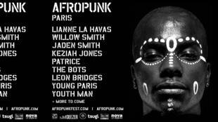 affiche du festival afropunk à Paris.