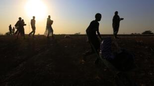 Des réfugiés sud-soudanais arrivent vers Juba après avoir fui les combats, le 16 janvier 2014.