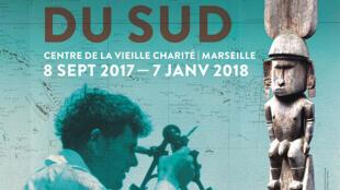 Affiche de l'exposition «Jack London dans les mers du Sud».