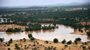 Vue aérienne de la ville de Ougadougou.