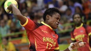L'Angolaise Wuta Waco Bige Dombaxi lors des JO 2016.