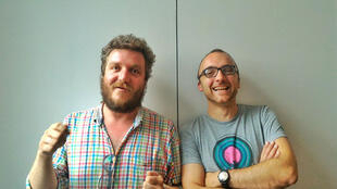 Paul-Alexis Bernard, alias PAB (gauche) et Arnaud Wéry (droite).