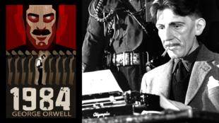 """کتاب """"١٩٨٤""""، مشهورترین اثر  George Orwell نویسنده و متفکر مشهور انگلیسی میباشد."""