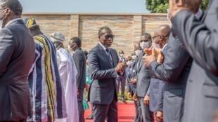 Patrice Talon, président de la république du Bénin, lors des célébrations des soixante ans de l'indépendance du pays, au Palais de la Marina, le 1er août 2020.