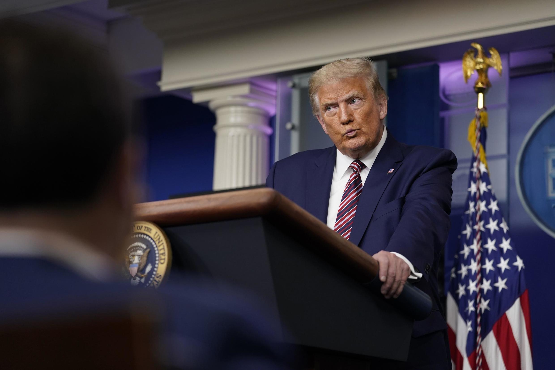 Donald Trump lors de sa conférence de presse à la Maison Blanche, le 27 septembre 2020.
