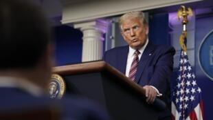Donald Trump lors de sa conférence de presse à la Maison Blanche le 27 septembre 2020.