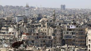 Vue générale d'Alep, le 22 août 2016.