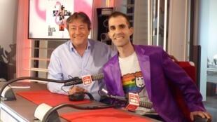 Philippe Ariño con Jordi Batallé en RFI