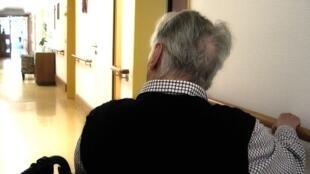 Paciente en un hospital francés.