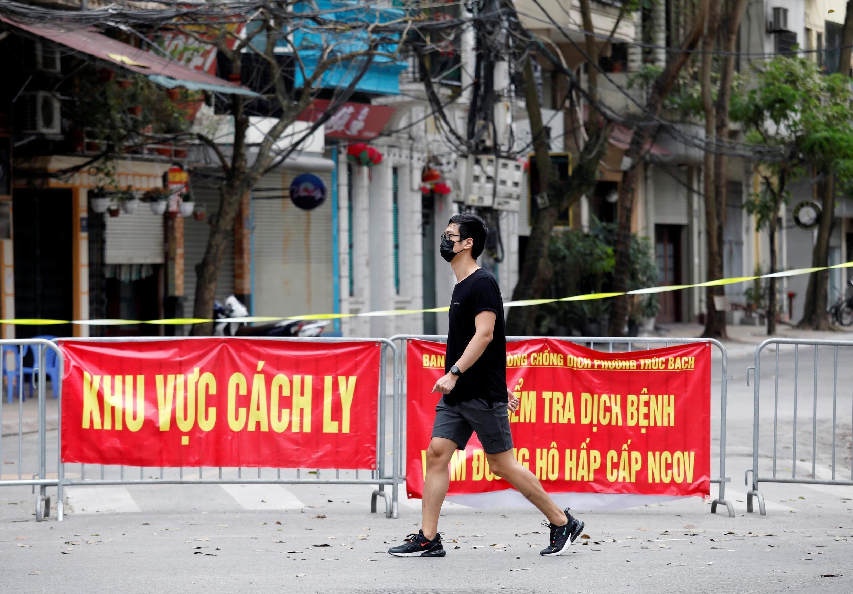 Một ngôi nhà bị cách ly ở Hà Nội, Việt Nam. Ảnh chụp ngày 10/03/2020