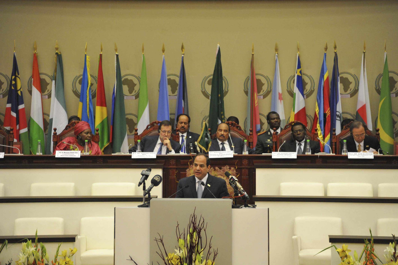 Abdel Fattah al-Sissi au 23e Sommet de l'UA à Malabo (Guinée équatoriale). 26 juin 2014.