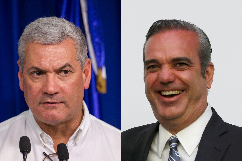 Gonzalo Castillo (I) del oficialista Partido de la Liberación Dominicana (PLD), y Luis Abinader (D), del Partido Revolucionario Moderno (PRM), son candidatos favoritos a la presidencia de República Dominicana