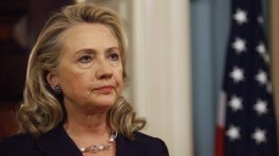 A secretária de Estado dos EUA, Hillary Clinton