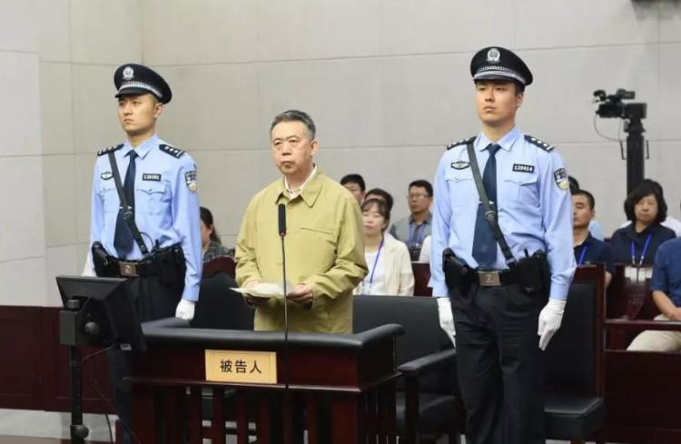 互联网上流传出疑似孟宏伟被庭审资料图片