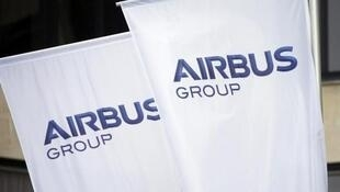 The new logo of aircraft manufacturer Airbus Group.