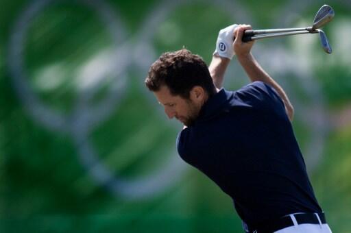 Le golfeur français, Gregory Bourdy à l'entraînement à Rio, le 5 août 2016.