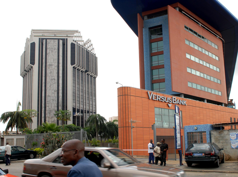 Siège de la BCEAO, Banque centrale des États d'Afrique de l'Ouest à Abidjan en 2007.