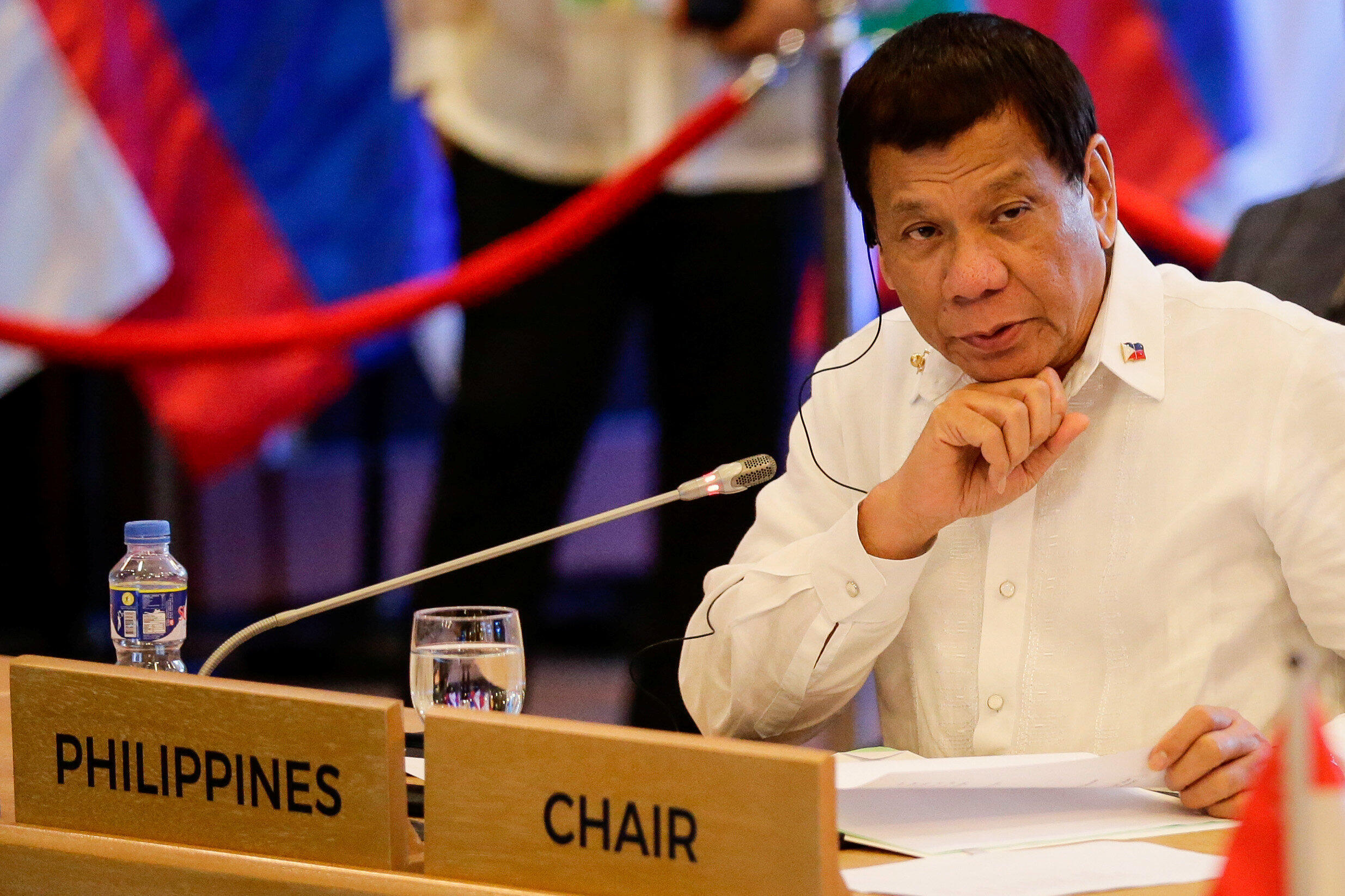 Tổng thống Philippines Rodrigo Duterte tại thượng đỉnh ASEAN - Trung Quốc lần thứ 20, Manila, 13/11/2017.