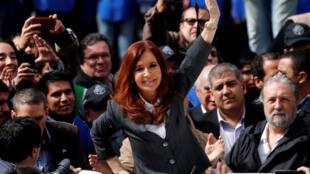 Bà Cristina Kirchner : Ảnh chụp ngay sau cuộc thẩm vấn tư pháp ngày 13/04/2016, tại Buenos Aires, Achentina.