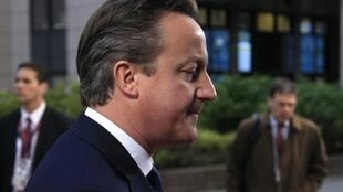 UK Prime Minister David Cameron arrives at the Brussels summit