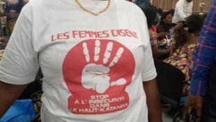 Les femmes de Lubumbashi veulent plus de sécurité dans le Haut-Katanga, le 11 mars 2020.