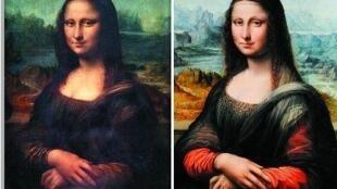 卢浮宫(左)和普拉达(右)的蒙娜丽莎。