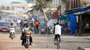 Dans un quartier défavorisé de Lomé, capitale du Togo.
