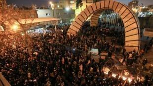 Manifestation d'étudiants, le 11 janvier 2020 à Téhéran.