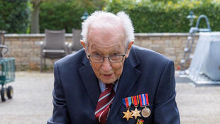 2020-04-14 HEALTH-CORONAVIRUS-BRITAIN-VETERAN Tom Moore