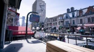 Au Québec, les bars ont été désertés pendant la crise du coronavirus, le 8 juin 2020.