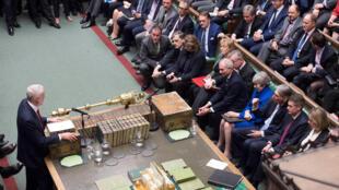 Lãnh đạo Công Đảng Jeremy Corbyn phát biểu sau phiên bỏ phiếu tín nhiệm thủ tướng Theresa May ngày 16/01/2019 tại Quốc Hội Anh Quốc. .