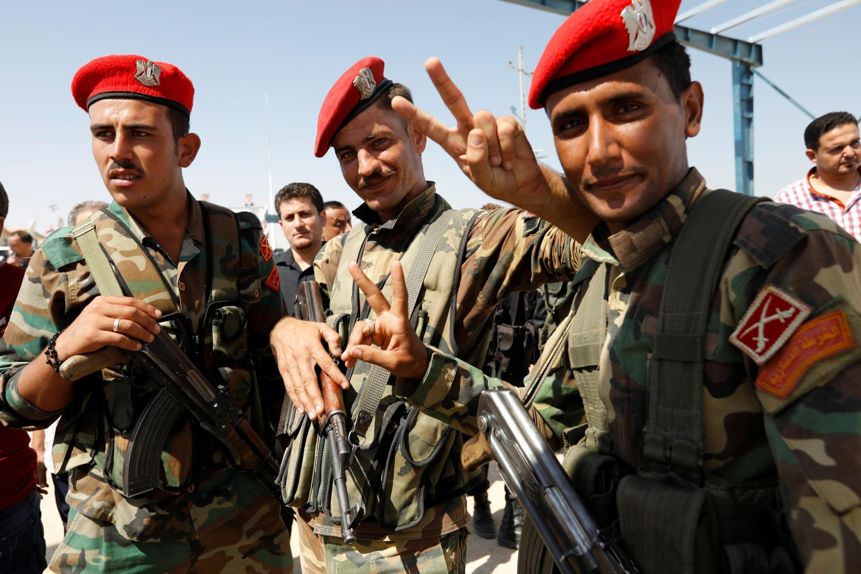 سربازان ارتش سوریه در مرز ترکیه