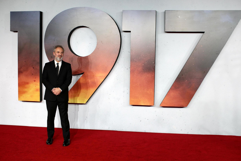 Сэм Мендес перед мировой премьерой своего фильма «1917» в Лондоне 4 декабря 2019