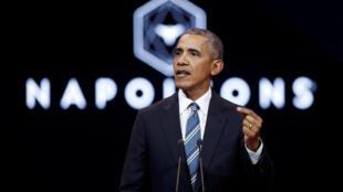 """اوباما به دعوت """"ناپلئونها"""" در سالن اجتماعات رادیو فرانسه سخنرانی کرد"""