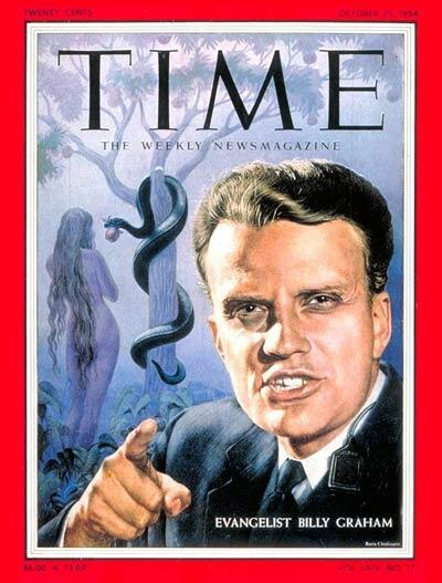 Billy Graham en Une du Time, le 25 octobre 1954.
