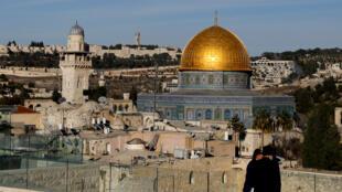 Une vue du Dôme du Rocher dans la vieille ville de Jérusalem, le 4 décembre 2017.