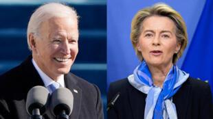 Joe Biden - Ursula von der Leyen - montage