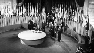 Cách đây 70 năm, ngày 24/10/1945, Liên Hiệp Quốc được chính thức khai sinh sau khi Thế chiến thứ hai kết thúc.