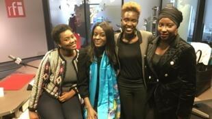 Dieretou Diallo, bloggeuse ; Rokhaya Diallo, journaliste et Charlotte Seck, rédactrice du magazine Amina.
