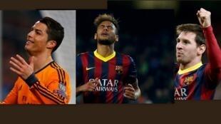 Cristiano Ronaldo, Neymar, e Lionel Messi, são os jogadores mais bem pagos do planeta.