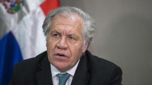El reelecto secretario general de la OEA, Luis Almagro, fotografiado en Santo Domingo, el 2 de marzo de 2020.